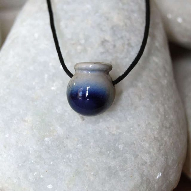 Colar aromático individual modelo caldeirao cor deep blue
