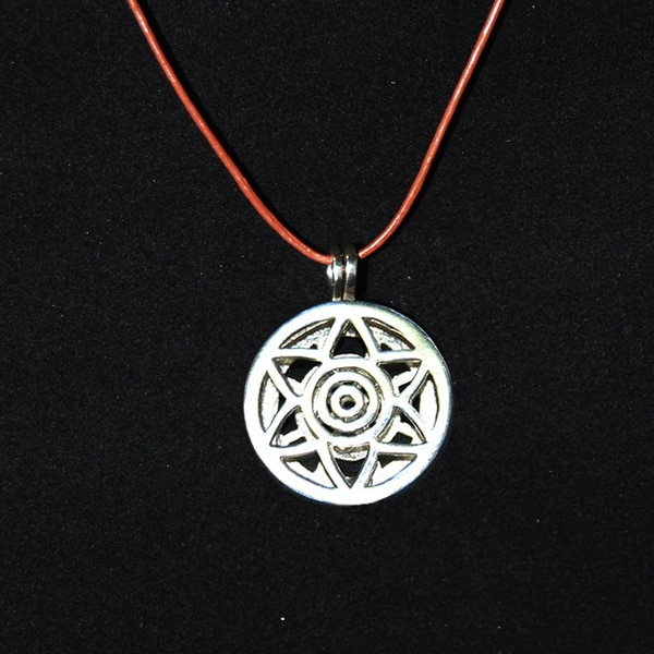 Pingente aromático em prata modelo estrela - cordão marrom