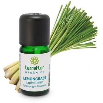 Óleo essencial de Lemongrass orgânico 10ml - Imagem meramento ilustrativa