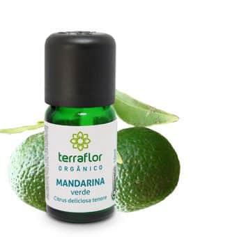 Óleo essencial de Mandarina verde orgânico 10ml - Imagem meramento ilustrativa