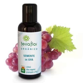 Óleo vegetal de Semente de uva orgânico 120ml - Imagem meramente ilustrativa