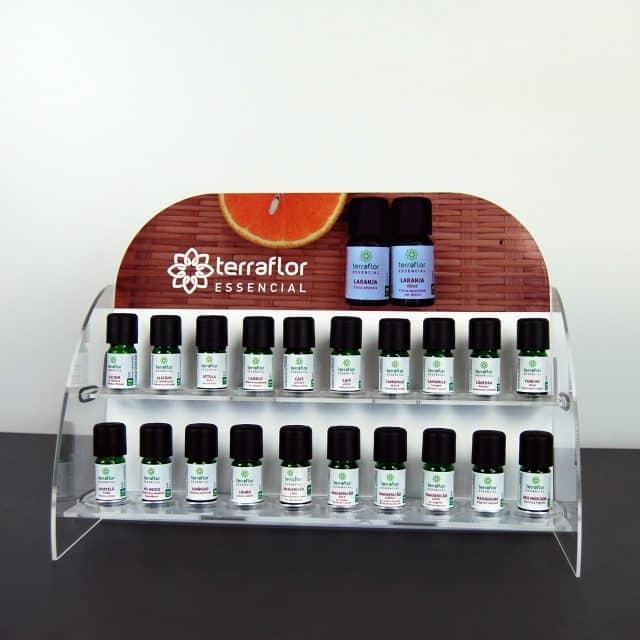 Display expositor para óleos essenciais - modelo 1 - imagem meramente ilustrativa