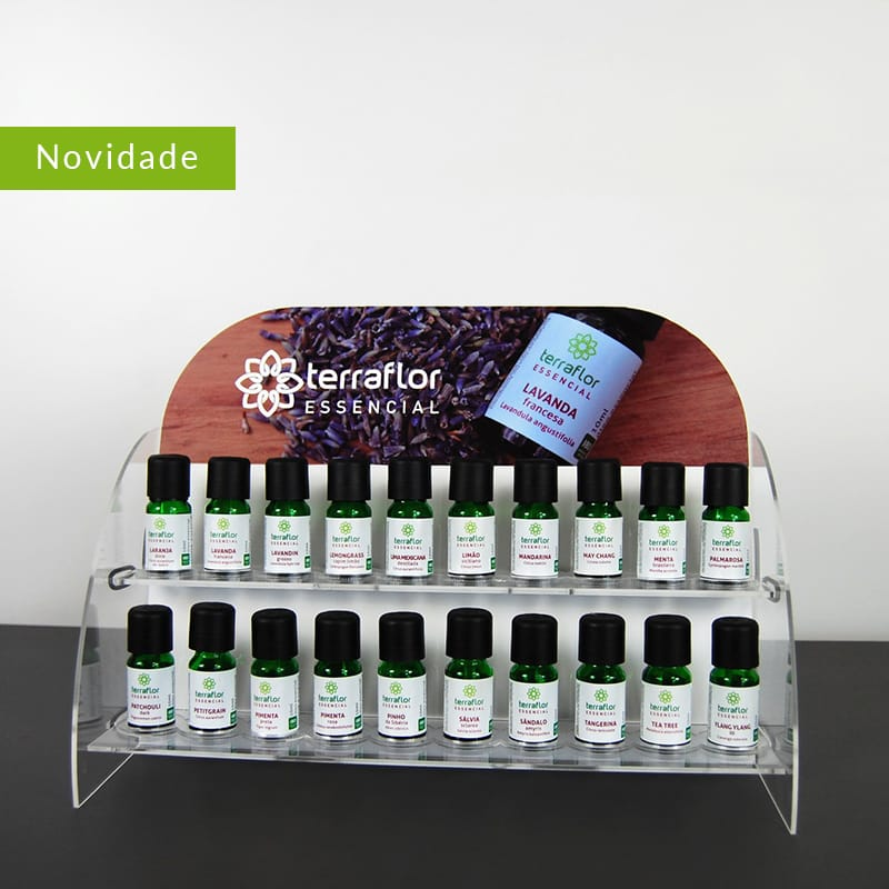 display de óleos essenciais