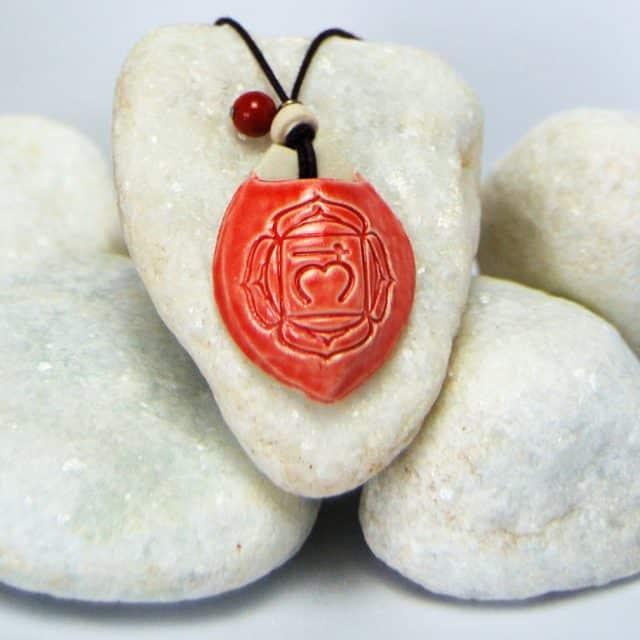 Colar aromático modelo 1° chakra - base - Imagem meramente ilustrativa