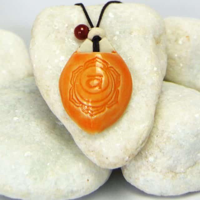 Colar aromático modelo 2° chakra - sacral - Imagem meramente ilustrativa